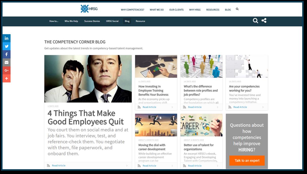 Competency Corner Blog Subscription HRSG