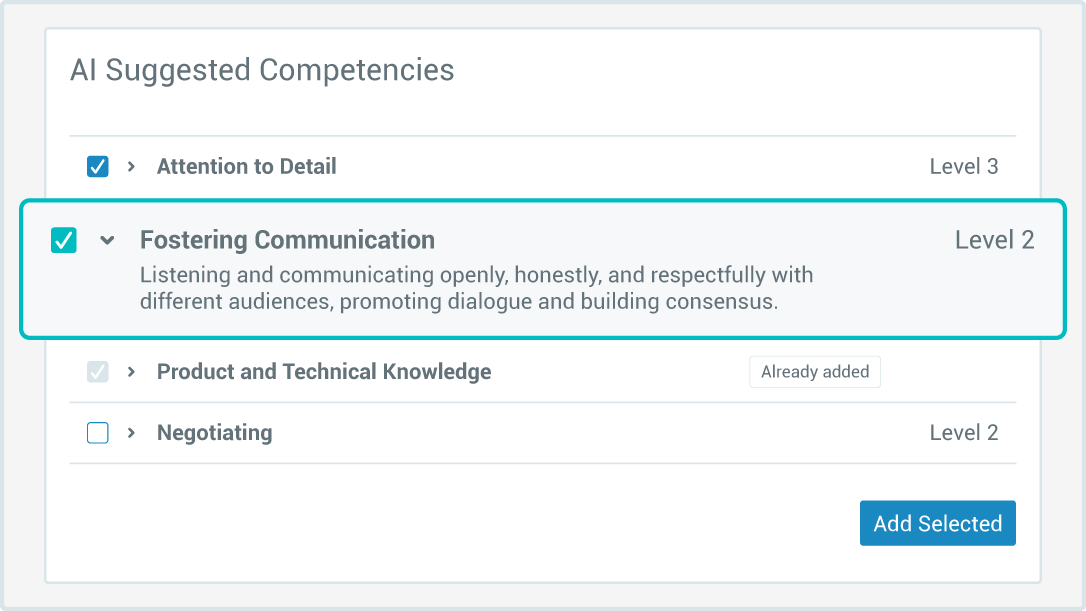 AI Suggested Competencies